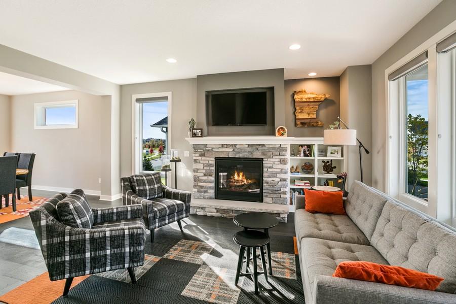 Real Estate Photography - 16219 Elkhorn Trail, Lakeville, MN, 55044 - Living Room