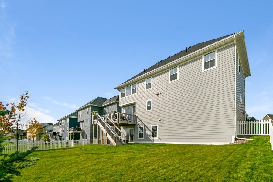 Real Estate Photography - 16219 Elkhorn Trail, Lakeville, MN, 55044 - Back Yard