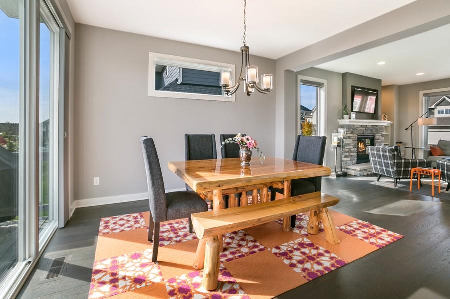 Real Estate Photography - 16219 Elkhorn Trail, Lakeville, MN, 55044 - Dining Room