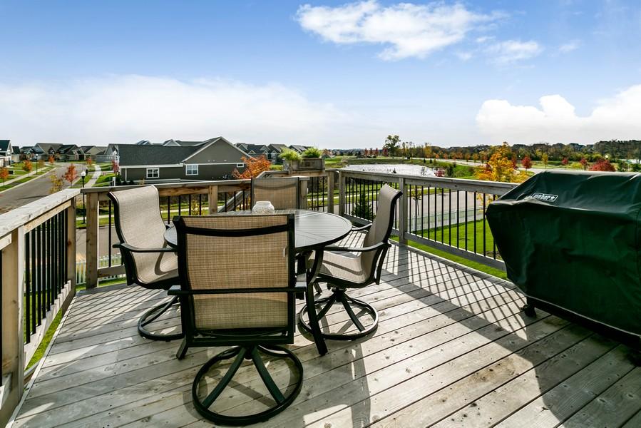 Real Estate Photography - 16219 Elkhorn Trail, Lakeville, MN, 55044 - Deck