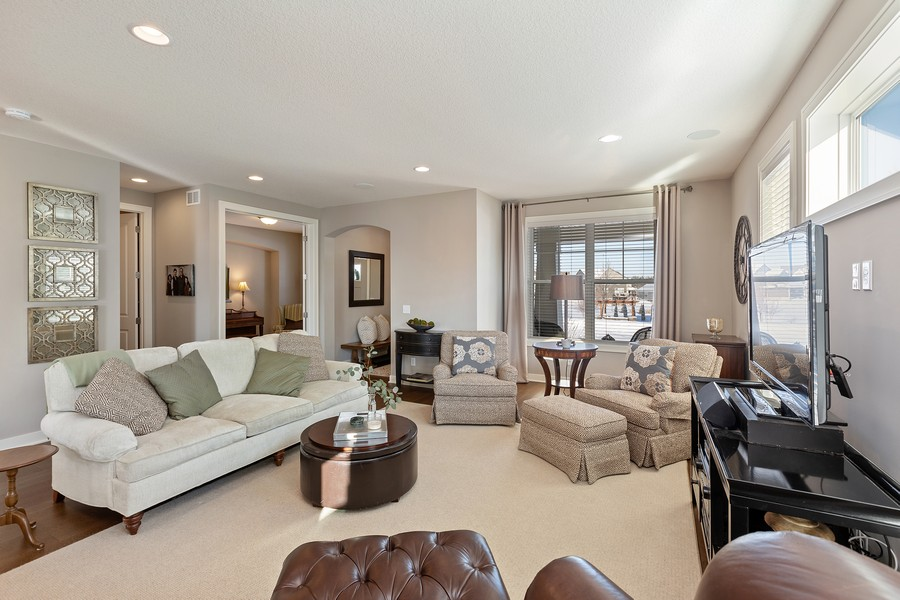 Real Estate Photography - 16646 Early Dawn Trail, Lakeville, MN, 55044 - Living Room