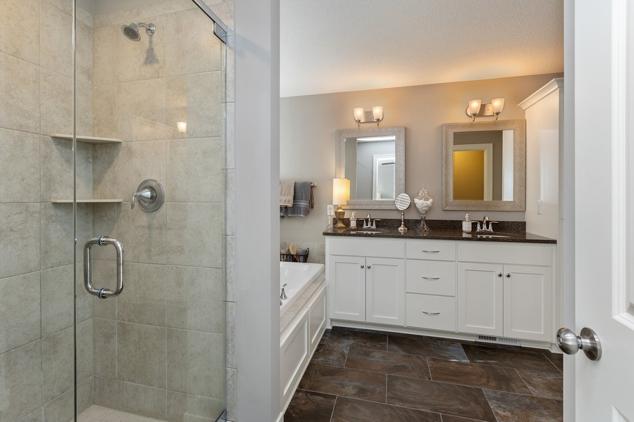 Real Estate Photography - 16646 Early Dawn Trail, Lakeville, MN, 55044 - Master Bathroom