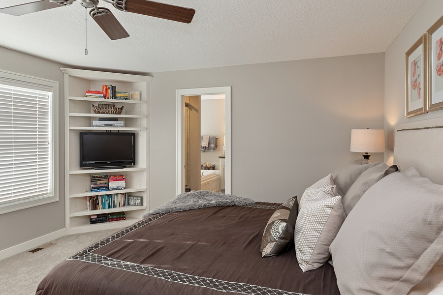 Real Estate Photography - 16646 Early Dawn Trail, Lakeville, MN, 55044 - Master Bedroom