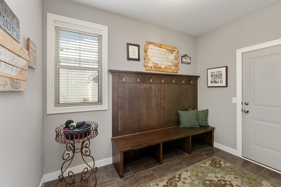 Real Estate Photography - 16646 Early Dawn Trail, Lakeville, MN, 55044 - Mudroom