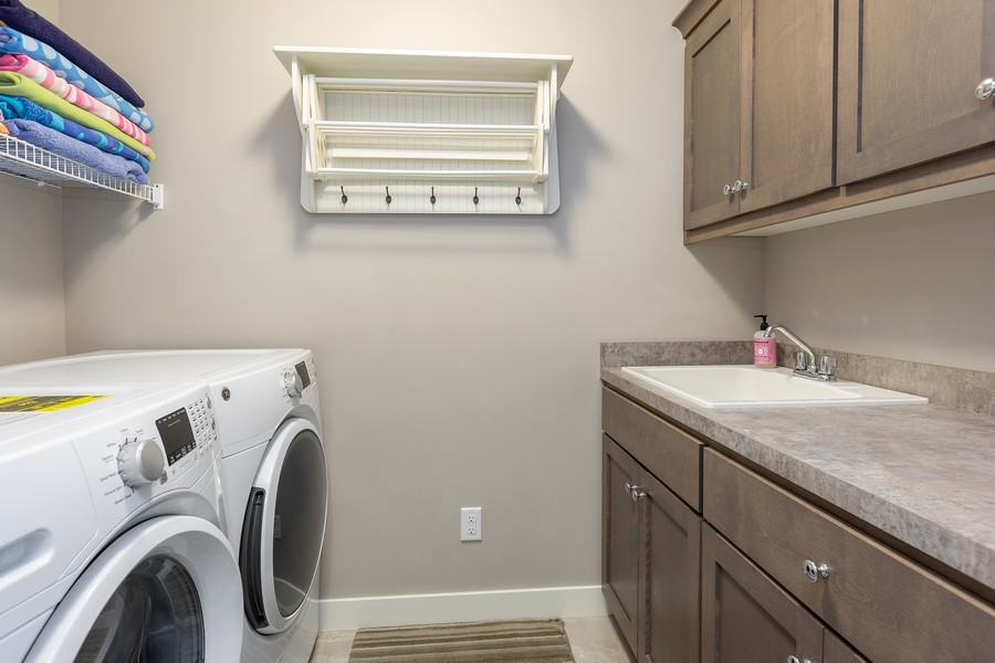 Real Estate Photography - 16646 Early Dawn Trail, Lakeville, MN, 55044 - Laundry Room