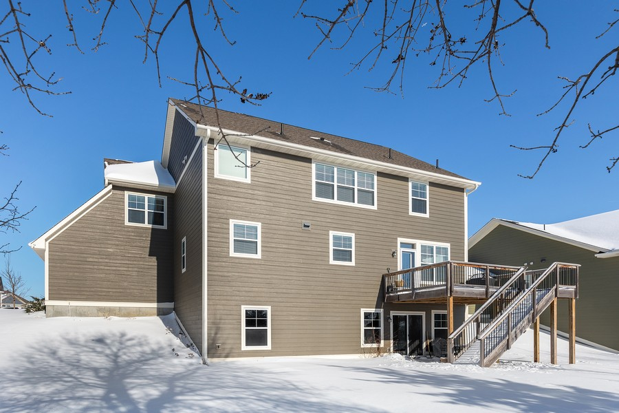 Real Estate Photography - 16646 Early Dawn Trail, Lakeville, MN, 55044 - Rear View