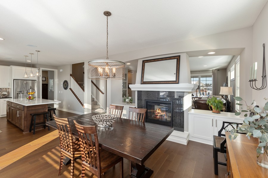 Real Estate Photography - 16646 Early Dawn Trail, Lakeville, MN, 55044 - Kitchen / Dining Room