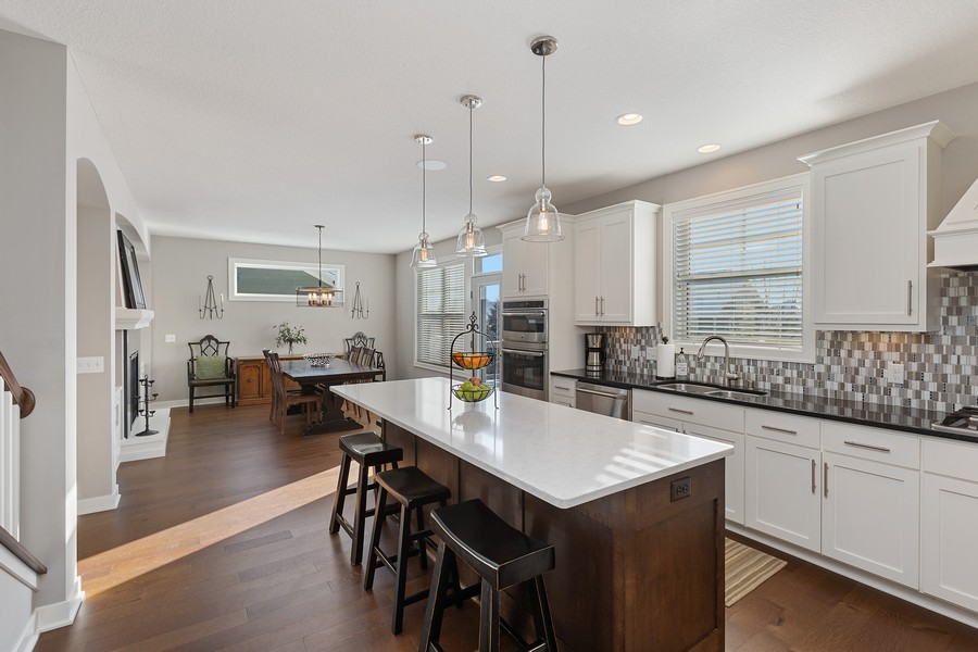 Real Estate Photography - 16646 Early Dawn Trail, Lakeville, MN, 55044 - Kitchen/Dining