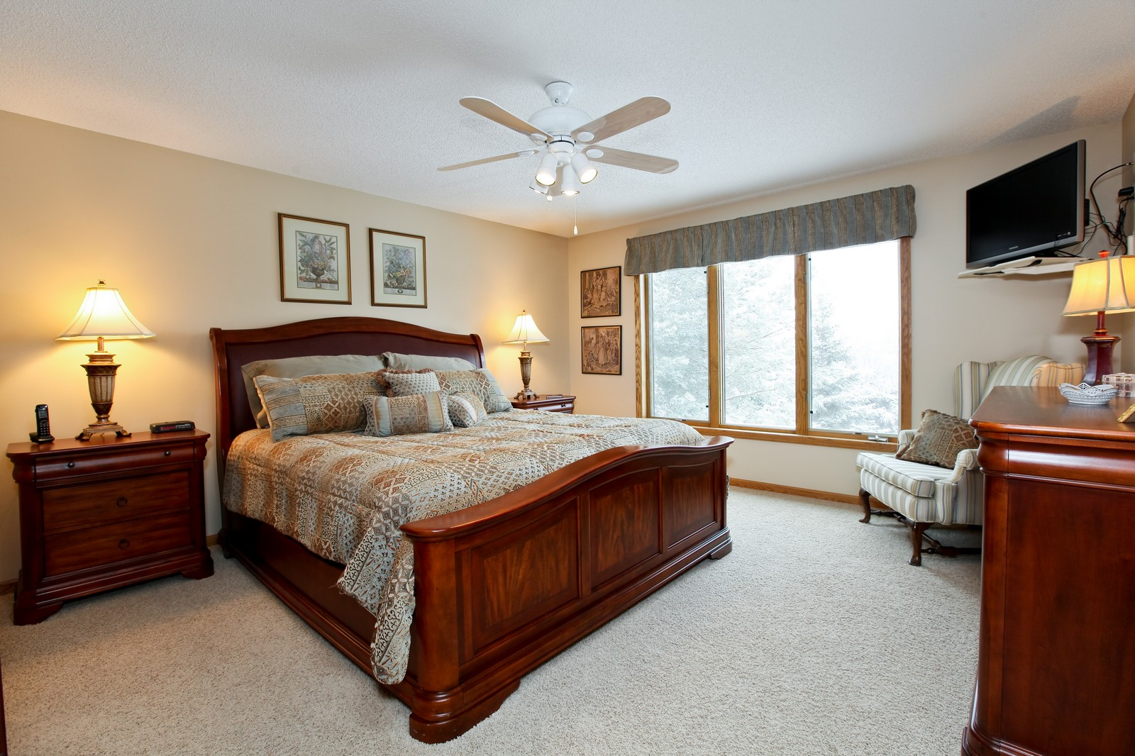 Real Estate Photography - 16020 38th Ave North, Plymouth, MN, 55446 - Master Bedroom