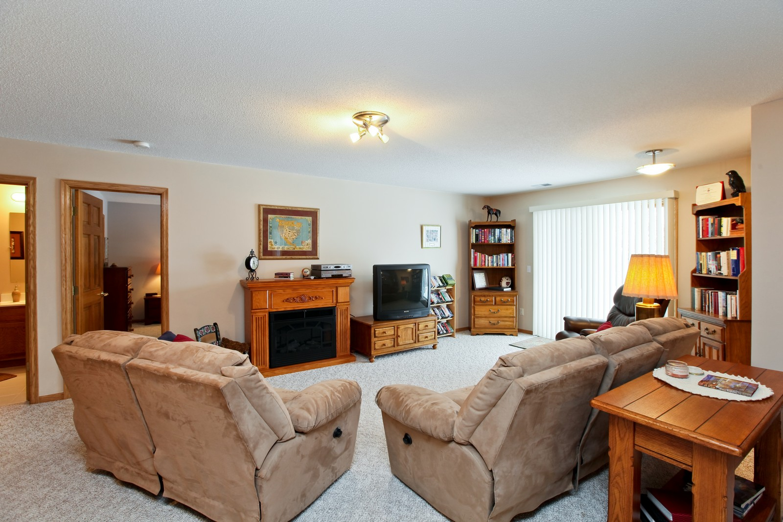 Real Estate Photography - 16020 38th Ave North, Plymouth, MN, 55446 - Living Rm/Family Rm