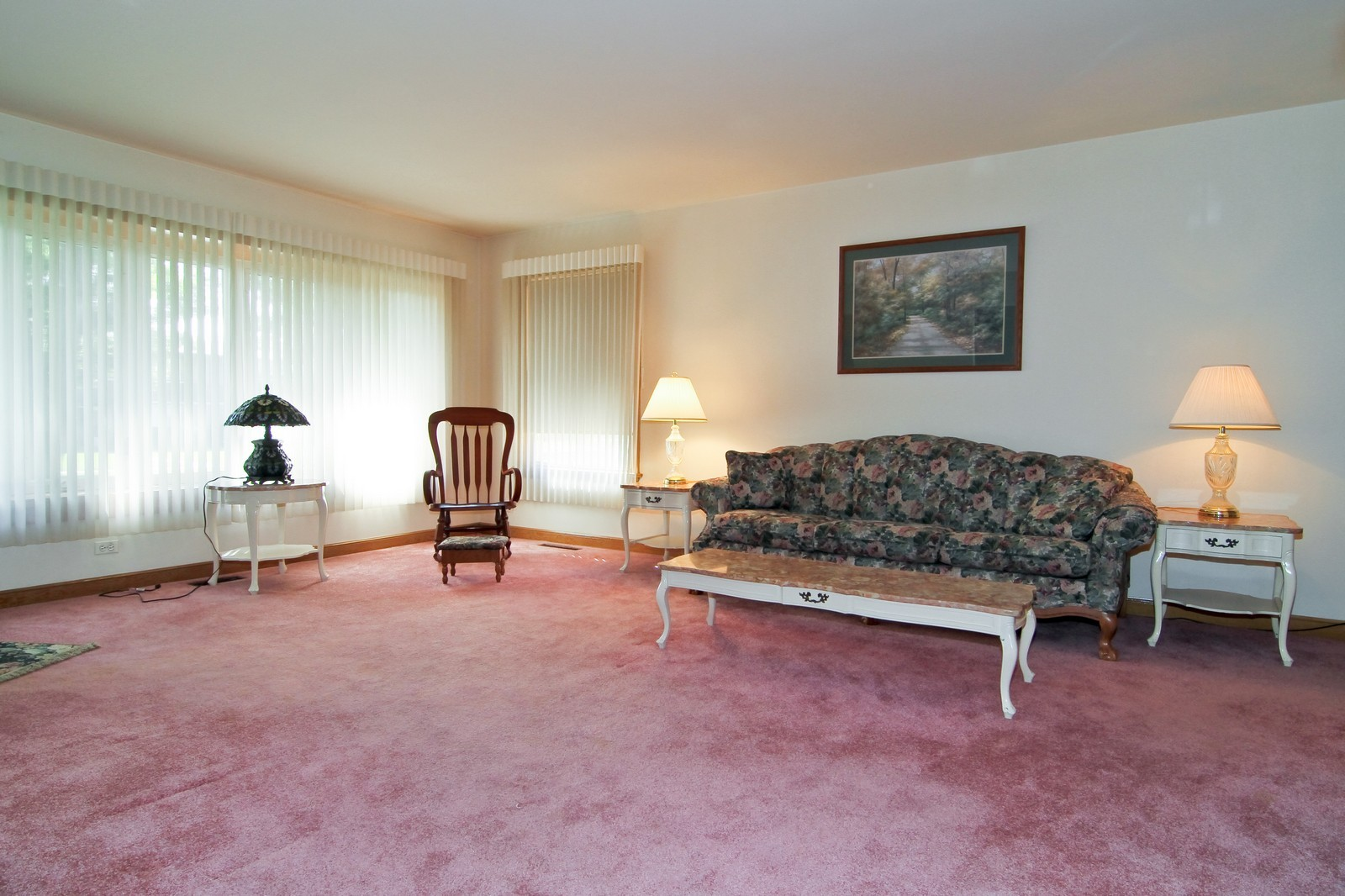 Real Estate Photography - 1300 Balmoral, Westchester, IL, 60154 - Living Room