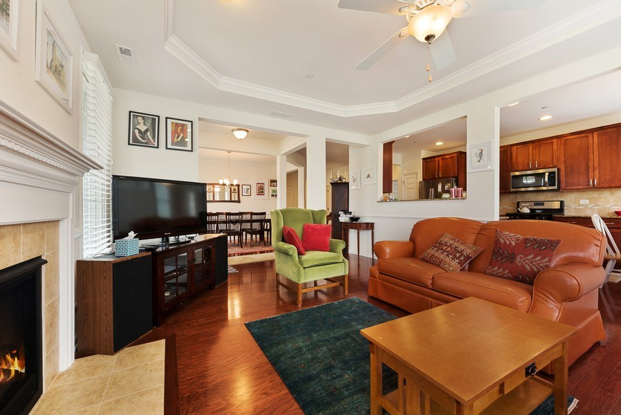 Real Estate Photography - 1698 Patriot Way, Glenview, IL, 60026 - Living Room