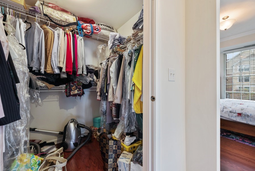 Real Estate Photography - 1698 Patriot Way, Glenview, IL, 60026 - Master Bedroom Closet