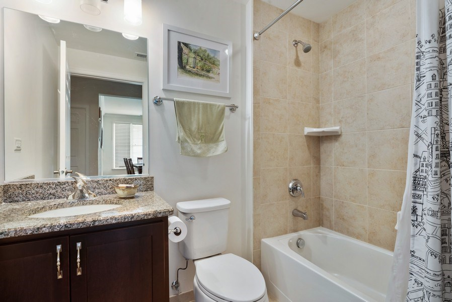 Real Estate Photography - 1698 Patriot Way, Glenview, IL, 60026 - 2nd Bathroom