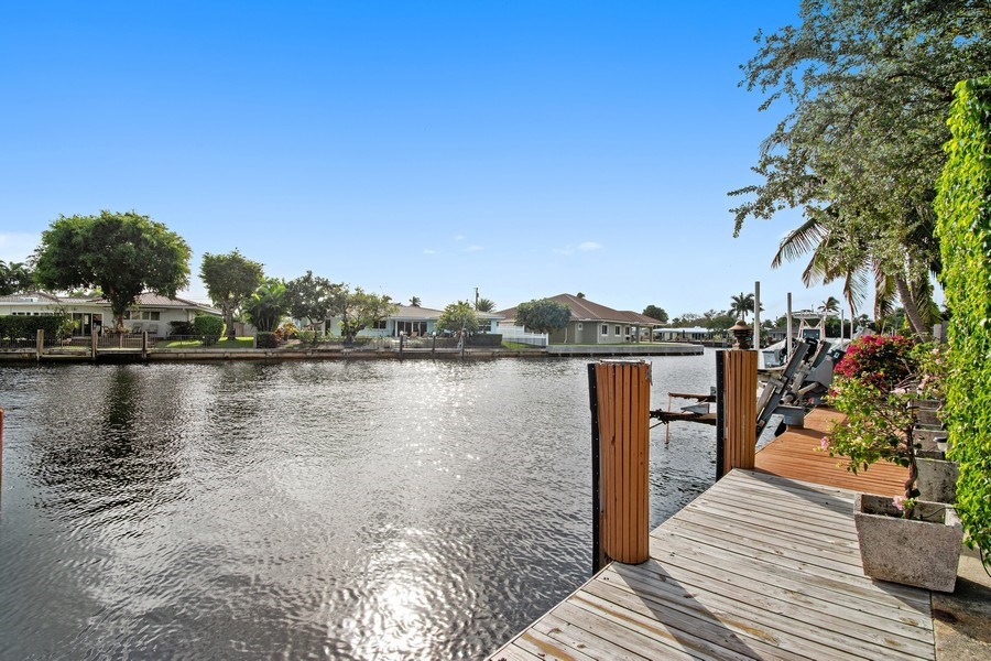 Real Estate Photography - 2860 NE 55th PL, Fort Lauderdale, FL, 33308 - Canal Leads You to Intracoastal Waterway