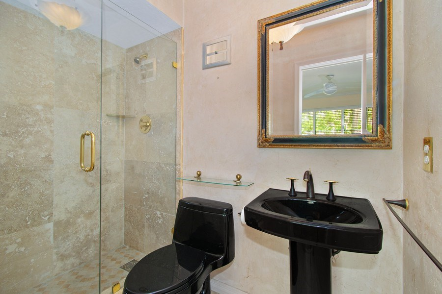 Real Estate Photography - 2860 NE 55th PL, Fort Lauderdale, FL, 33308 - 3rd Full Bath Ensuite with Bedroom/Library