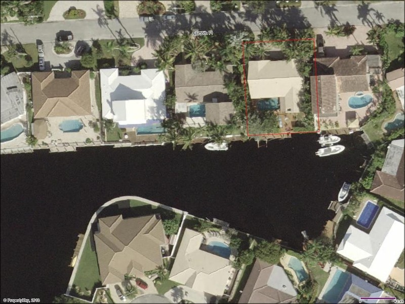Real Estate Photography - 2860 NE 55th PL, Fort Lauderdale, FL, 33308 - Aerial View of Dolphin Cove