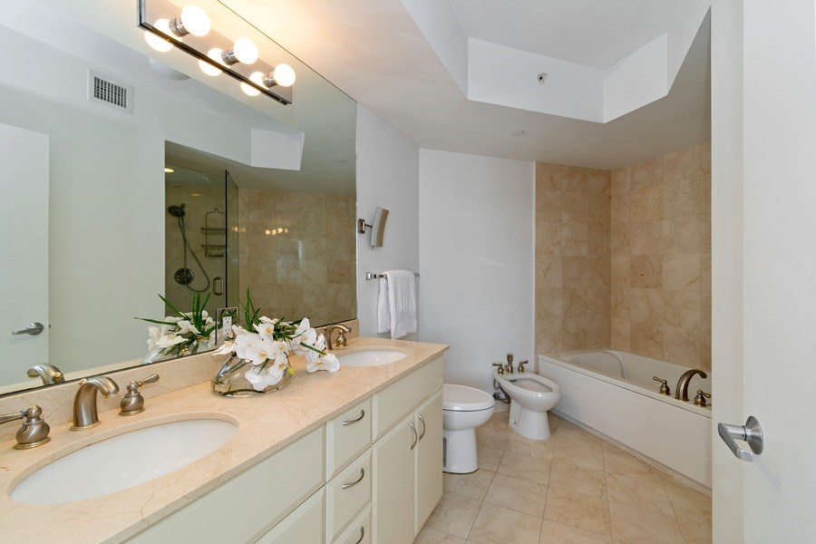 Real Estate Photography - 6365 Collins Avenue 1708, Miami Beach, FL, 33141 - Master Bathroom