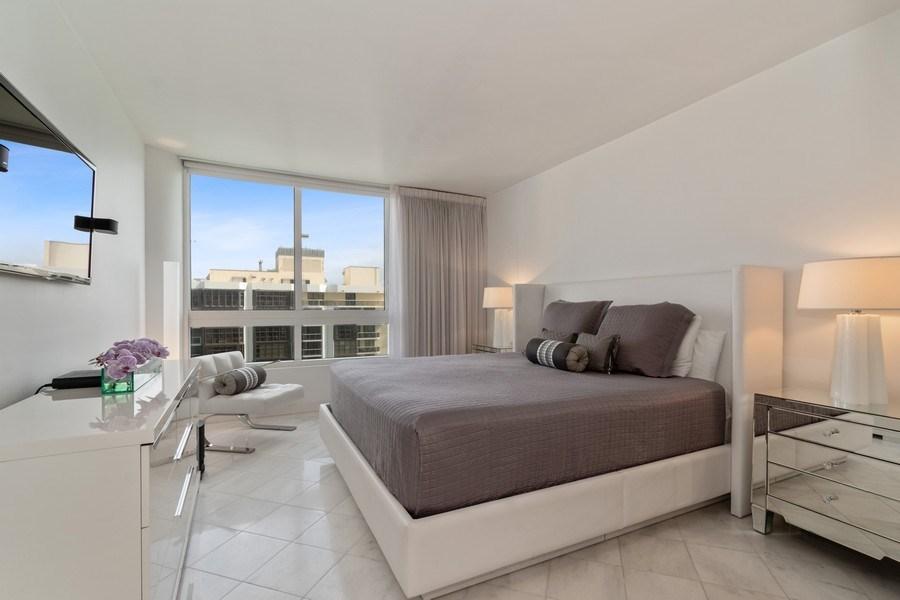Real Estate Photography - 6365 Collins Avenue 1708, Miami Beach, FL, 33141 - Master Bedroom