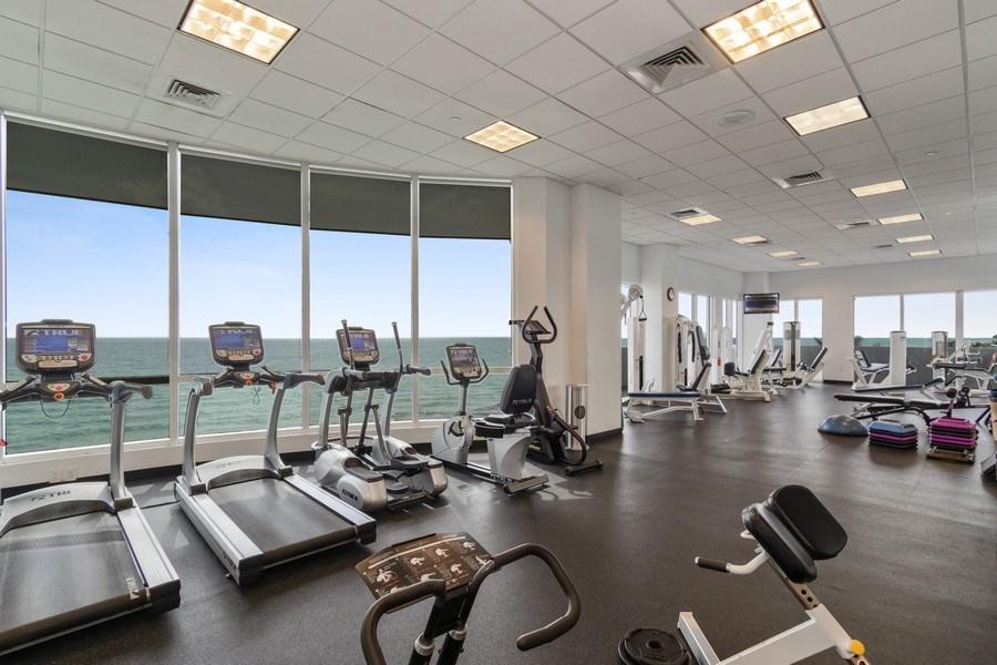 Real Estate Photography - 6365 Collins Avenue 1708, Miami Beach, FL, 33141 - Gym