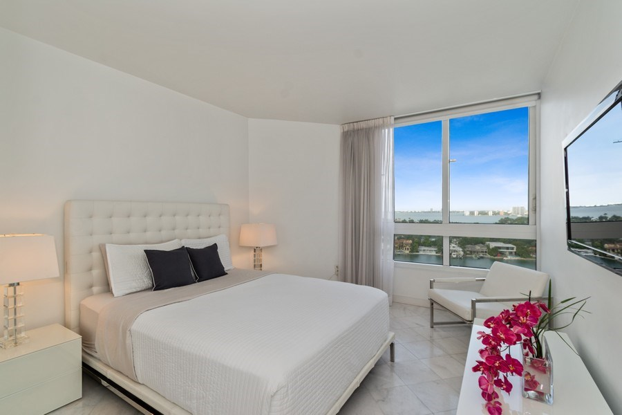 Real Estate Photography - 6365 Collins Avenue 1708, Miami Beach, FL, 33141 - Bedroom