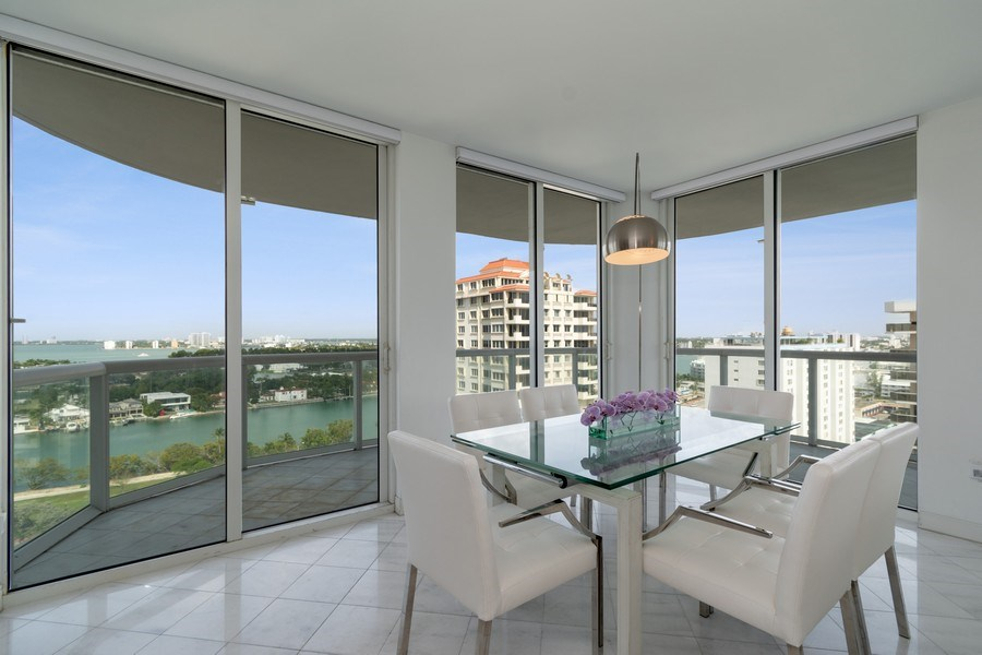 Real Estate Photography - 6365 Collins Avenue 1708, Miami Beach, FL, 33141 - Dining Room