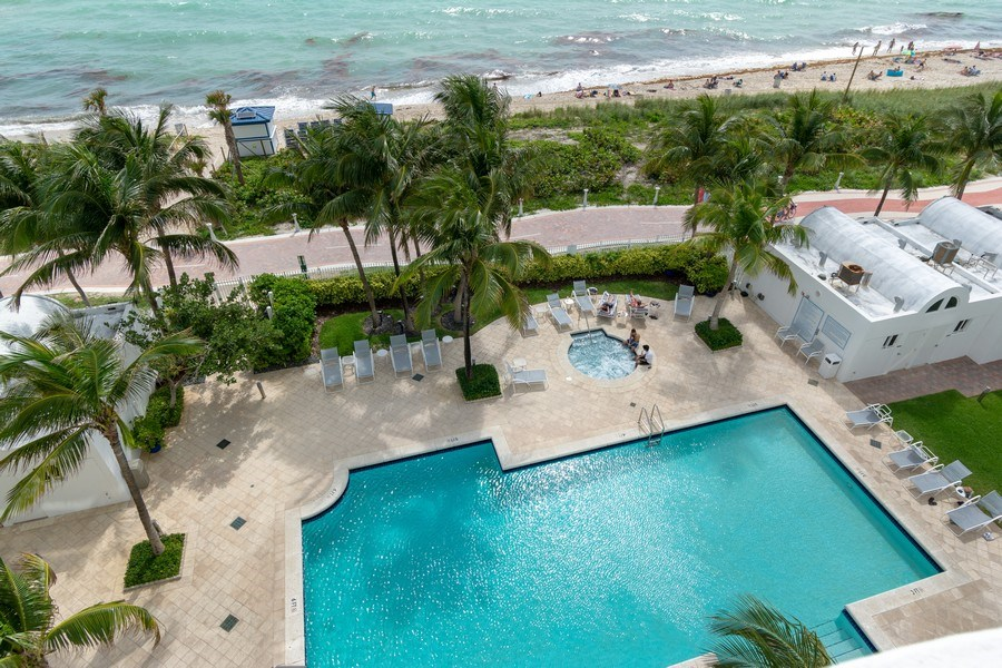 Real Estate Photography - 6365 Collins Avenue 1708, Miami Beach, FL, 33141 - Pool