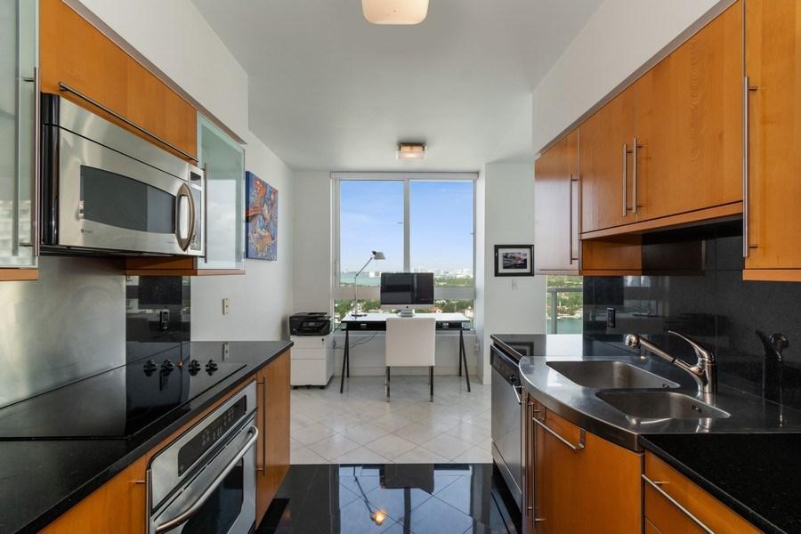 Real Estate Photography - 6365 Collins Avenue 1708, Miami Beach, FL, 33141 - Kitchen