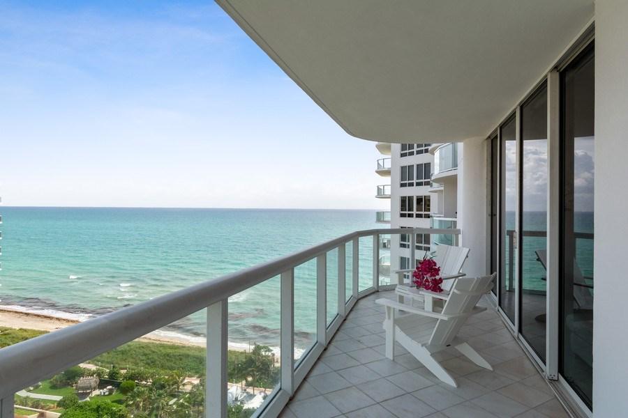 Real Estate Photography - 6365 Collins Avenue 1708, Miami Beach, FL, 33141 - Balcony
