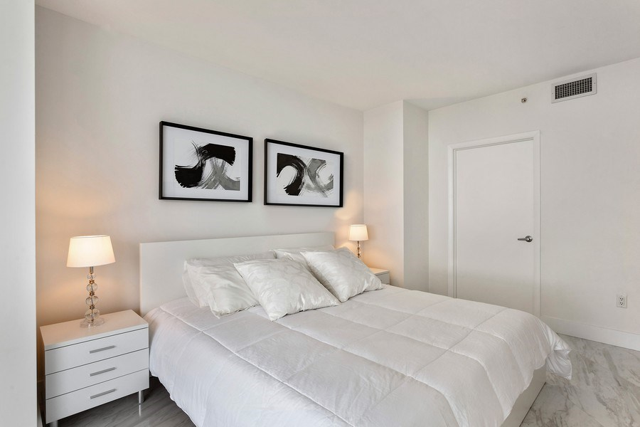 Real Estate Photography - 6365 Collins Avenue 2704, Miami Beach, FL, 33141 - Bedroom