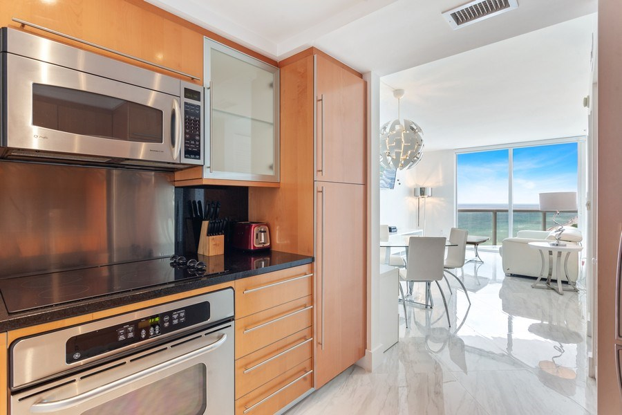 Real Estate Photography - 6365 Collins Avenue 2704, Miami Beach, FL, 33141 - Kitchen