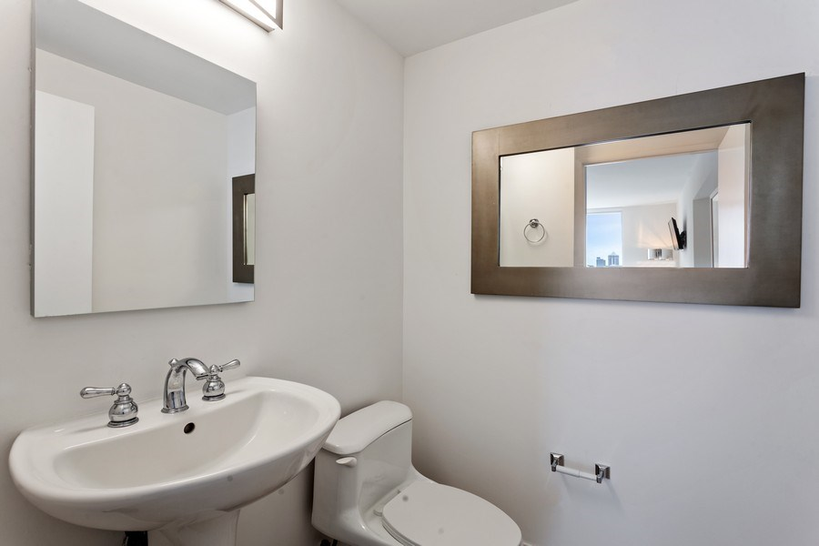 Real Estate Photography - 6365 Collins Avenue 2704, Miami Beach, FL, 33141 - Half Bath