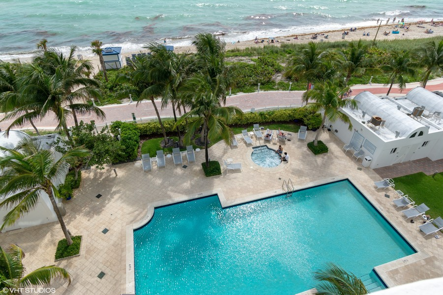 Real Estate Photography - 6365 Collins Avenue 2704, Miami Beach, FL, 33141 - Pool/Spa