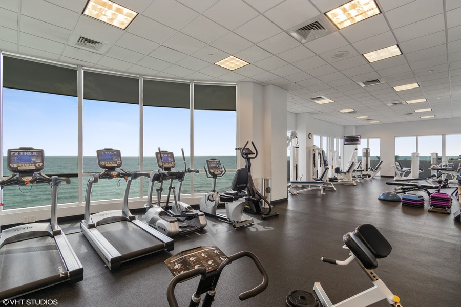Real Estate Photography - 6365 Collins Avenue 2704, Miami Beach, FL, 33141 - Gym
