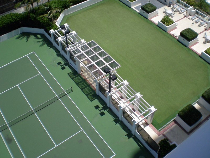 Real Estate Photography - 6365 Collins Avenue 2704, Miami Beach, FL, 33141 - Tennis/Putting Green