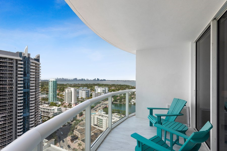 Real Estate Photography - 6365 Collins Avenue 2704, Miami Beach, FL, 33141 - Balcony