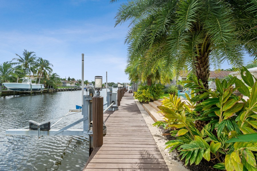 Real Estate Photography - 2761 N. E. 56 Court, Fort Lauderdale, FL, 33308 - Dock