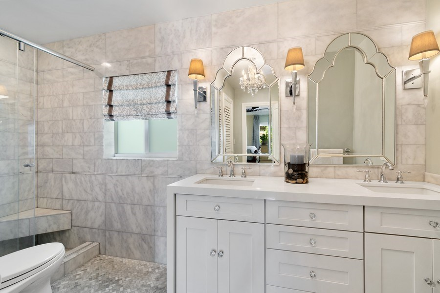 Real Estate Photography - 2761 N. E. 56 Court, Fort Lauderdale, FL, 33308 - Master Bathroom