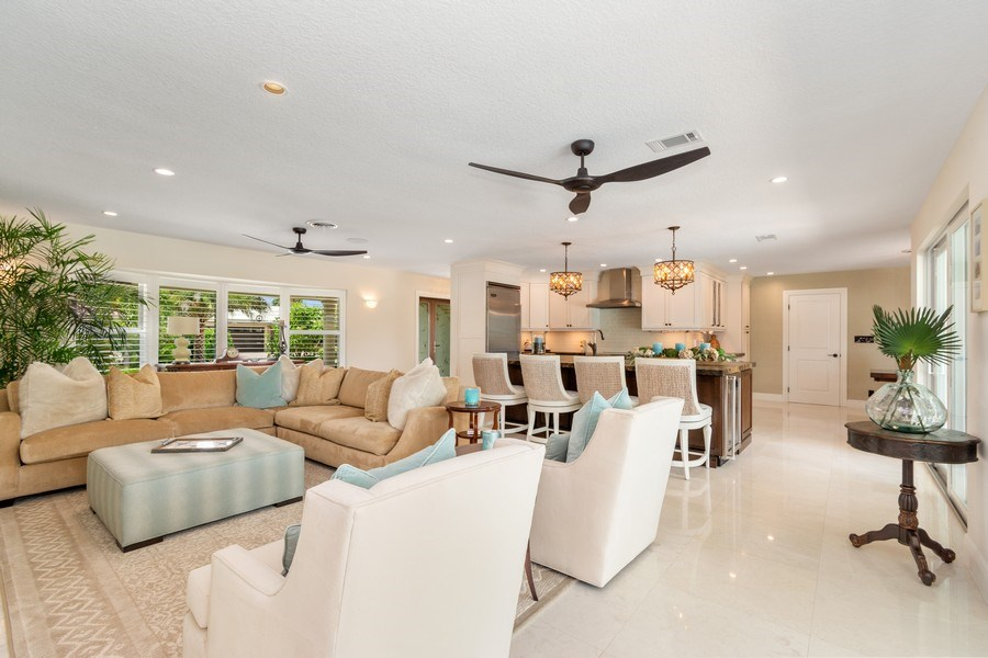 Real Estate Photography - 2761 N. E. 56 Court, Fort Lauderdale, FL, 33308 - Living Room