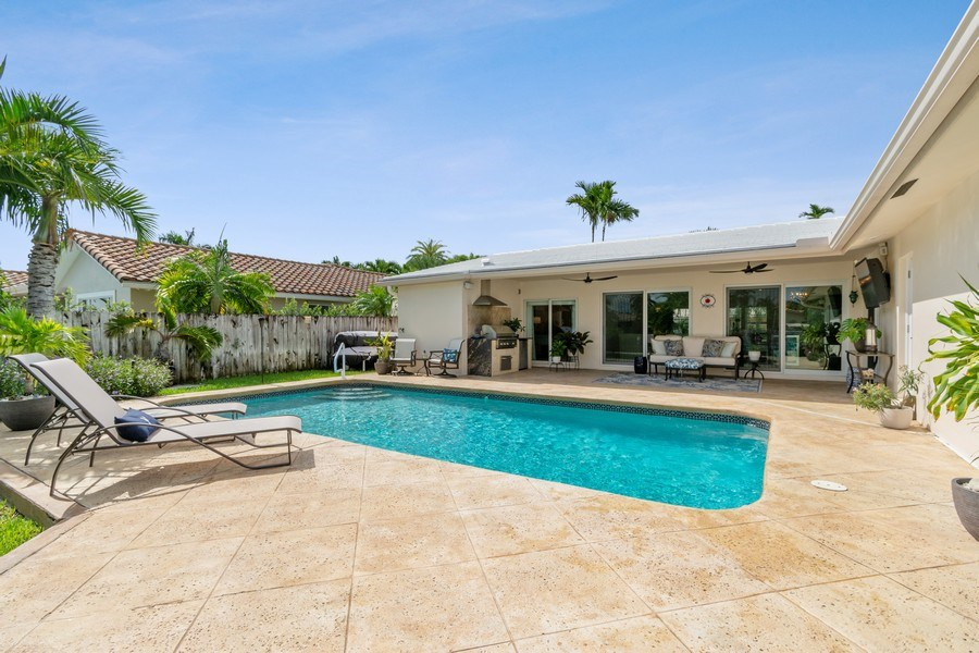 Real Estate Photography - 2761 N. E. 56 Court, Fort Lauderdale, FL, 33308 - Pool
