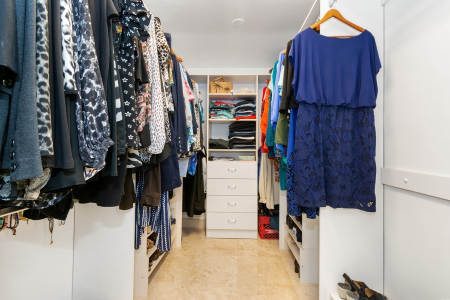 Real Estate Photography - 2761 N. E. 56 Court, Fort Lauderdale, FL, 33308 - Master Bedroom Closet