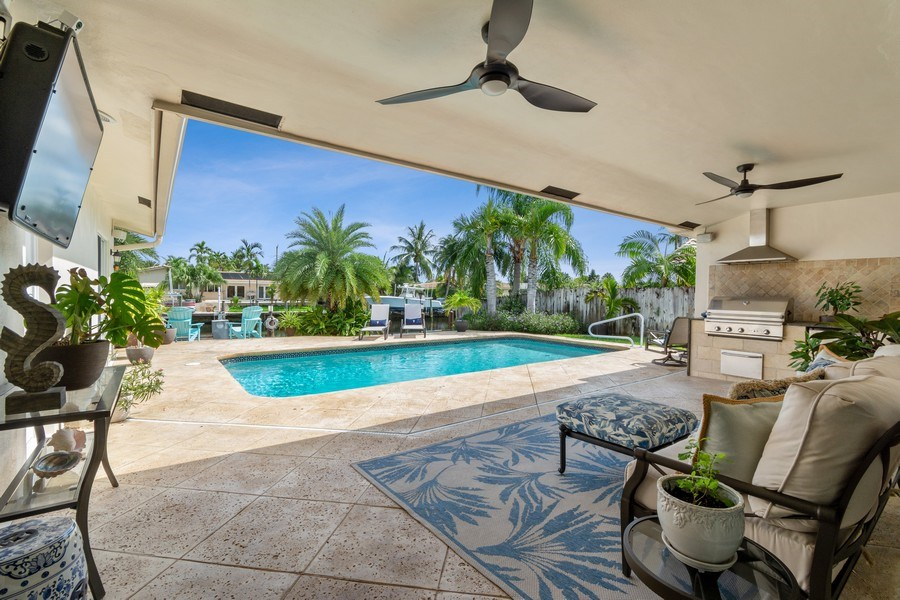 Real Estate Photography - 2761 N. E. 56 Court, Fort Lauderdale, FL, 33308 - Patio
