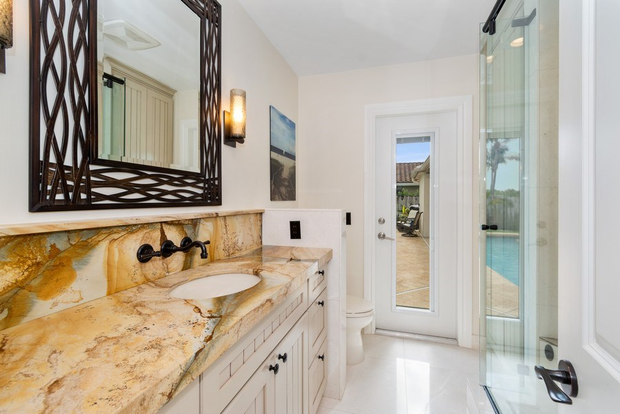 Real Estate Photography - 2761 N. E. 56 Court, Fort Lauderdale, FL, 33308 - 2nd Bathroom