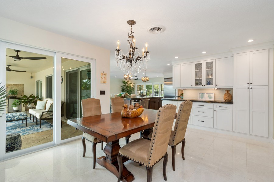 Real Estate Photography - 2761 N. E. 56 Court, Fort Lauderdale, FL, 33308 - Kitchen / Dining Room