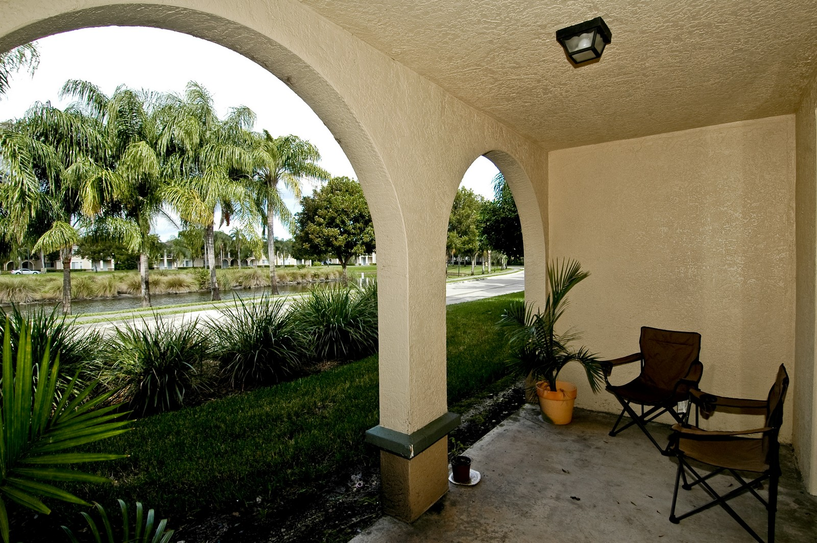 Real Estate Photography - 25117 Center Gate Dr, Apt 102, Miramar, FL, 33025 - Patio