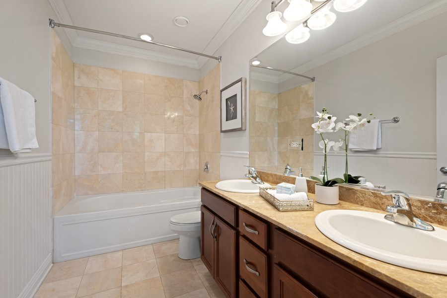 Real Estate Photography - 3300 W Irving Park Rd, Unit 3H, Chicago, IL, 60618 - Master Bathroom