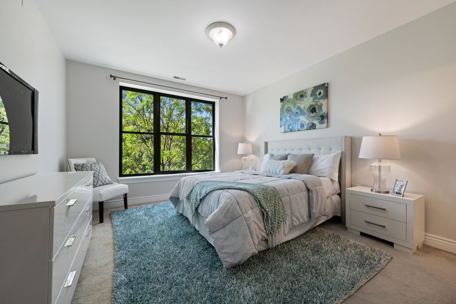 Real Estate Photography - 3300 W Irving Park Rd, Unit 3H, Chicago, IL, 60618 - Master Bedroom