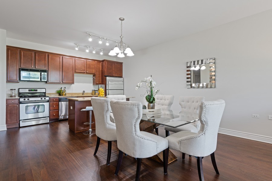 Real Estate Photography - 3300 W Irving Park Rd, Unit 3H, Chicago, IL, 60618 - Dining Area