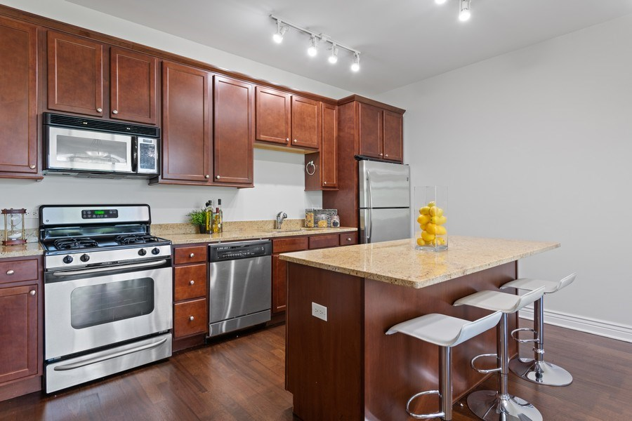 Real Estate Photography - 3300 W Irving Park Rd, Unit 3H, Chicago, IL, 60618 - Kitchen