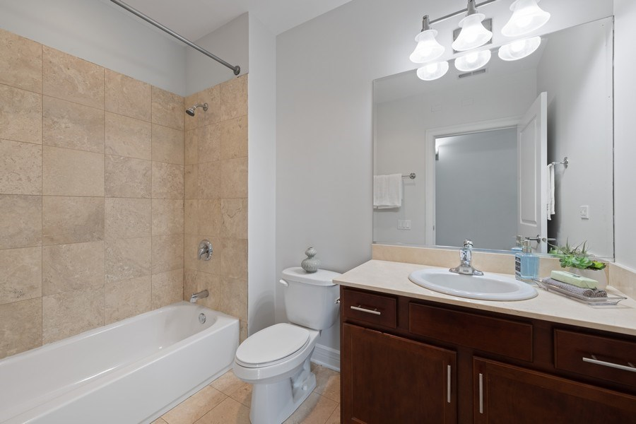Real Estate Photography - 3300 W Irving Park Rd, Unit 3H, Chicago, IL, 60618 - 2nd Bathroom